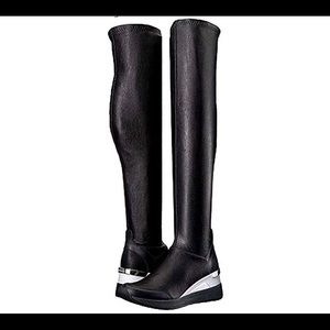 Michael Michael Kors Ace Over The Knee Wedge Boots